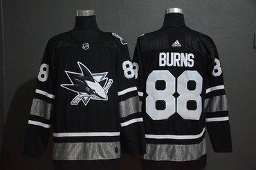 Men's San Jose Sharks 88 Brent Burns Black 2019 NHL All-Star Game Adidas Jersey