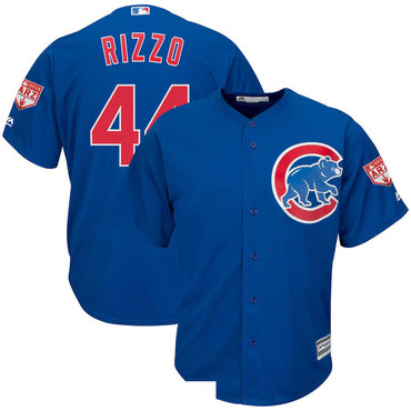 Men's Chicago Cubs 44 Anthony Rizzo Royal 2019 Spring Training Cool Base Jersey