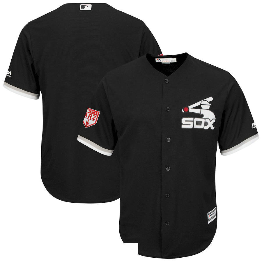 Men's Chicago White Sox Black 2019 Spring Training Cool Base Jersey