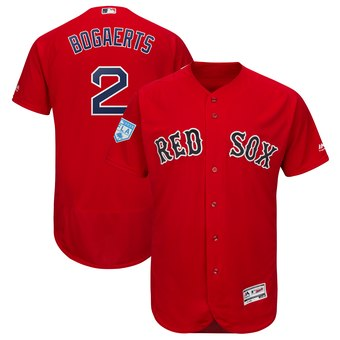 Men's Boston Red Sox 2 Xander Bogaerts Majestic Scarlet 2019 Spring Training Flex Base Player Jersey