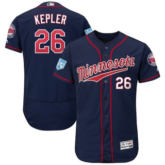 Men's Minnesota Twins 26 Max Kepler Majestic Navy 2019 Spring Training Flex Base Player Jersey