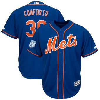 Men's New York Mets 30 Michael Conforto Majestic Royal 2019 Spring Training Cool Base Player Jersey