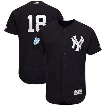 Men's New York Yankees 18 Didi Gregorius Majestic Navy 2019 Spring Training Flex Base Player Jersey