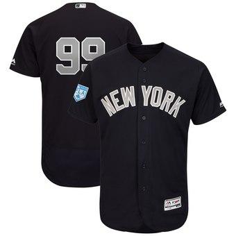 Men's New York Yankees 99 Aaron Judge Majestic Navy Alternate 2019 Spring Training Flex Base Player Jersey