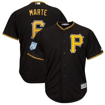 Men's Pittsburgh Pirates 6 Starling Marte Majestic Black 2019 Spring Training Cool Base Player Jersey