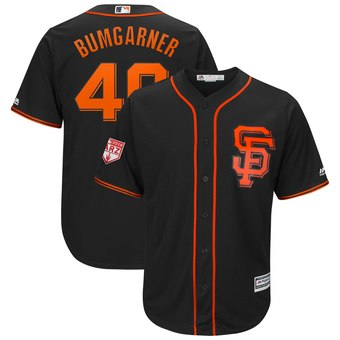 Men's San Francisco Giants 40 Madison Bumgarner Majestic Black 2019 Spring Training Cool Base Player Jersey