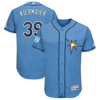 Men's Tampa Bay Rays 39 Kevin Kiermaier Majestic Light Blue 2019 Spring Training Flex Base Player Jersey