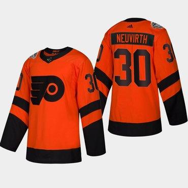 Men's #30 Michal Neuvirth Flyers Coors Light 2019 Stadium Series Orange Authentic Jersey
