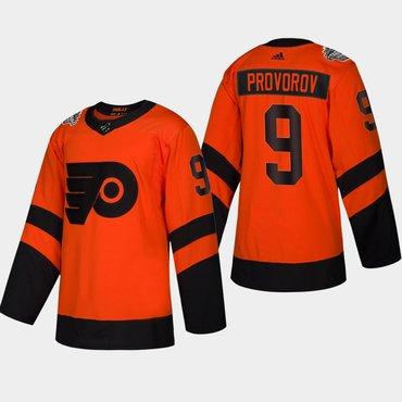 Men's #9 Ivan Provorov Flyers Coors Light 2019 Stadium Series Orange Authentic Jersey