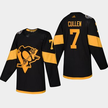 Men's #7 Matt Cullen Penguins Coors Light 2019 Stadium Series Black Authentic Jersey