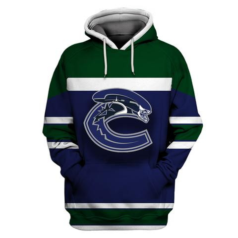 Men's Vancouver Canucks Blue All Stitched Hooded Sweatshirt