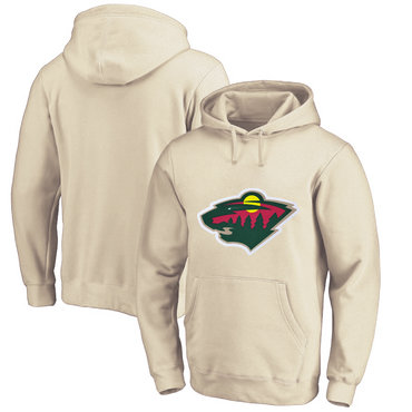 Minnesota Wild Cream Men's Customized All Stitched Pullover Hoodie