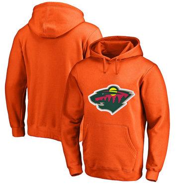 Minnesota Wild Orange Men's Customized All Stitched Pullover Hoodie