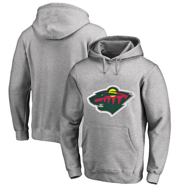 Minnesota Wild Gray Men's Customized All Stitched Pullover Hoodie
