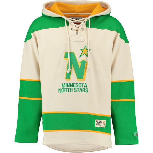 Minnesota North Stars Cream Men's Customized Hooded Sweatshirt