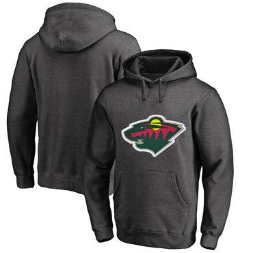 Minnesota Wild Dark Gray Men's Customized All Stitched Pullover Hoodie