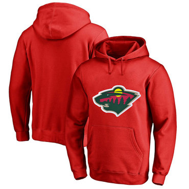 Minnesota Wild Red Men's Customized All Stitched Pullover Hoodie