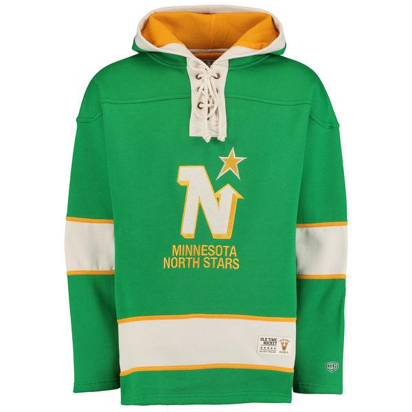 Minnesota North Stars Green Men's Customized Hooded Sweatshirt