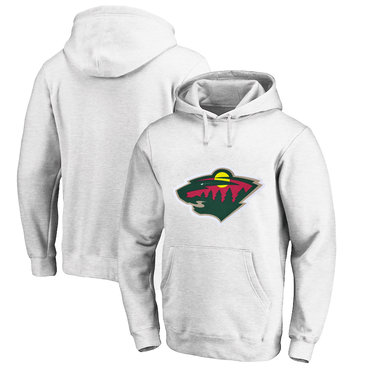 Minnesota Wild White Men's Customized All Stitched Pullover Hoodie
