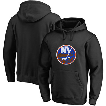 New York Islanders Black Men's Customized All Stitched Pullover Hoodie