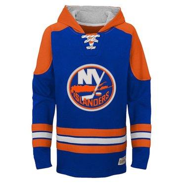 New York Islanders Blue Classic Men's Customized All Stitched Hooded Sweatshirt