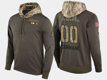 Nike Ducks Men's Customized Olive Salute To Service Pullover Hoodie