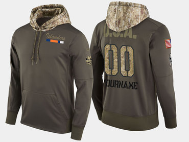 Nike Islanders Men's Customized Olive Salute To Service Pullover Hoodie