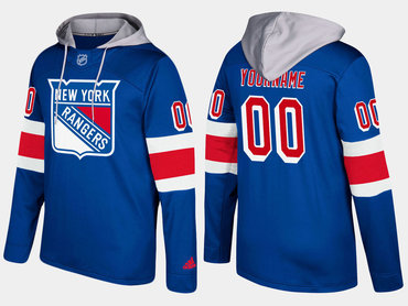 Adidas Rangers Men's Customized Name And Number Blue Hoodie