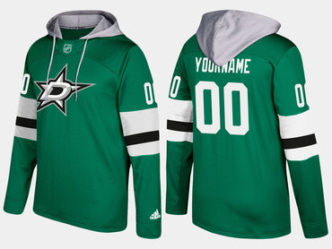 Adidas Stars Men's Customized Name And Number Green Hoodie