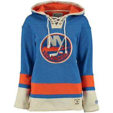 Islanders Blue Men's Customized All Stitched Sweatshirt