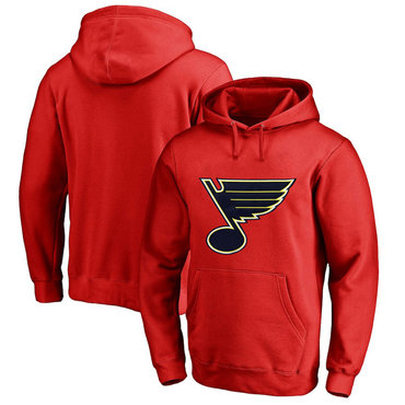 St. Louis Blues Red Men's Customized All Stitched Pullover Hoodie