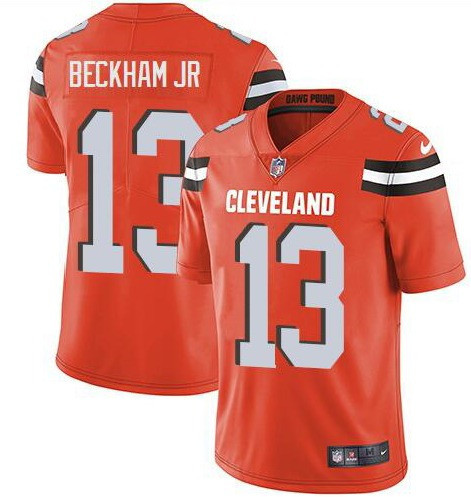 Nike Cleveland Browns 13 Odell Beckham Jr Orange Vapor Untouchable Limited Jersey
