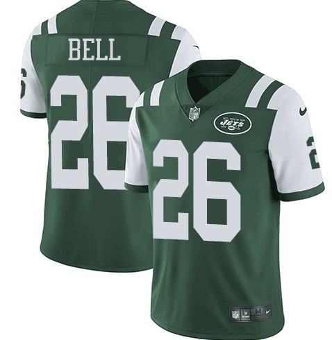 Nike New York Jets 26 Le'Veon Bell Green Vapor Untouchable Limited Jersey