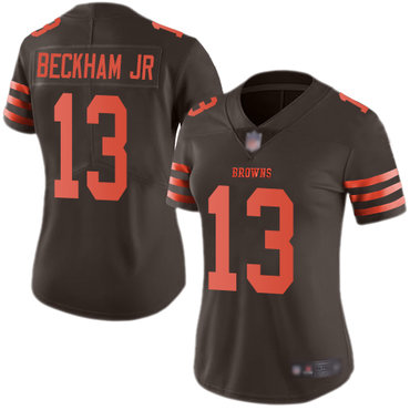 Women Nike Cleveland Browns #13 Odell Beckham Jr Brown Color Rush Limited Jersey