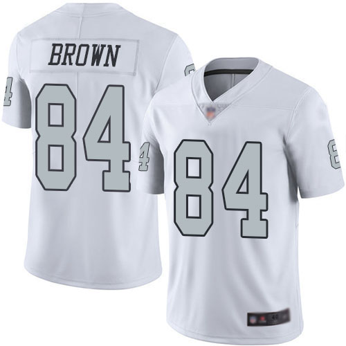 Youth Oakland Raiders #84 Antonio Brown White Color Rush Limited Jersey