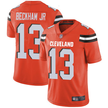 Youth Nike Cleveland Browns #13 Odell Beckham Jr Orange Vapor Untouchable Limited Jersey