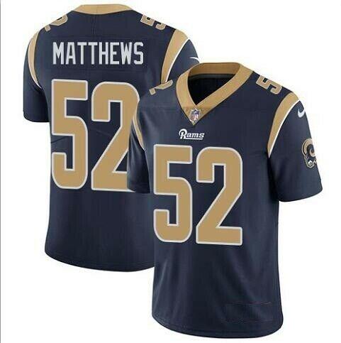 Nike Los Angeles Rams #52 Clay Matthews Navy Vapor Untouchable Limited Jersey