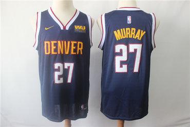 Denver Nuggets 27 Jamal Murray Navy Nike Swingman Jersey