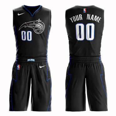 Magic Black 2018-19 City Edition Men's Customized Nike Swingman Jersey(With Shorts)