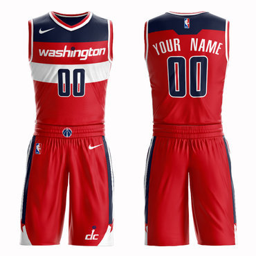 Wizards Red Men's Customized Nike Swingman Jersey(With Shorts)