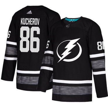 Lightning #86 Nikita Kucherov Black Authentic 2019 All-Star Stitched Hockey Jersey