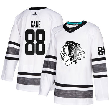 Blackhawks #88 Patrick Kane White Authentic 2019 All-Star Stitched Hockey Jersey