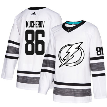 Lightning #86 Nikita Kucherov White Authentic 2019 All-Star Stitched Hockey Jersey