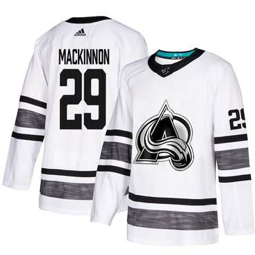 Avalanche #29 Nathan MacKinnon White Authentic 2019 All-Star Stitched Hockey Jersey