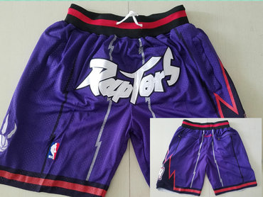 Toronto Raptors Purple Throwback Short