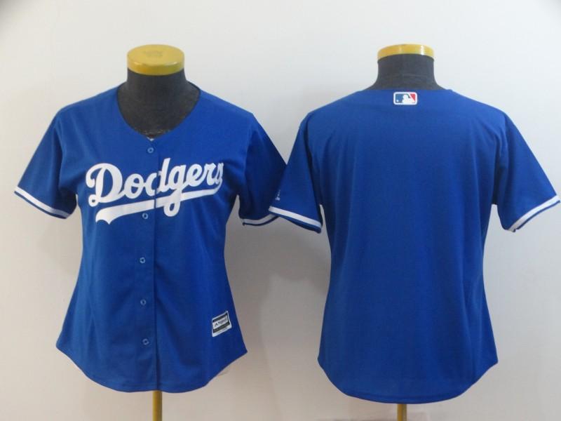 Dodgers Blank Royal Women Cool Base Jersey