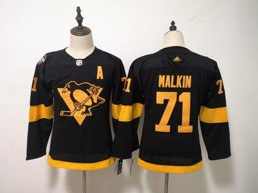 Penguins 71 Evgeni Malkin Black Women 2019 NHL Stadium Series Adidas Jersey