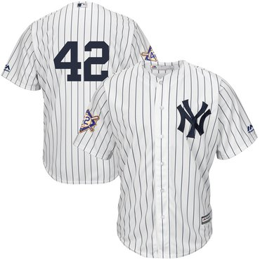 Men's New York Yankees #42 Mariano Rivera White 2019 Jackie Robinson Day Cool Base Jersey