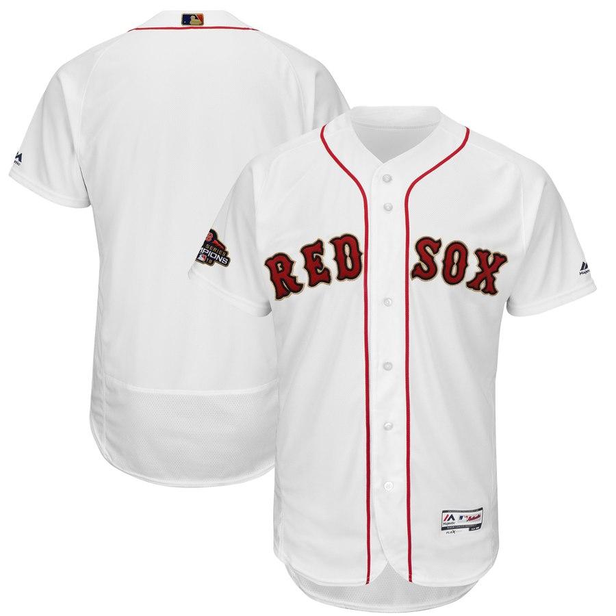 Youth Boston Red Sox Blank White 2019 Gold Program FlexBase Jersey