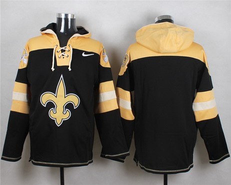 Custom Men's New Orleans Saints Black Team Color 2014 NFL Nike Hoodie